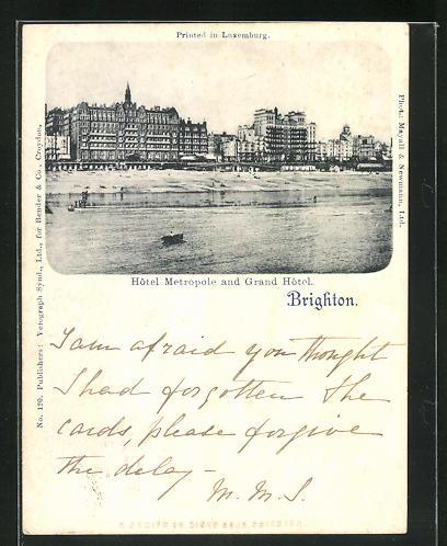 AK Brighton, Hotel Metropole and Grand Hotel