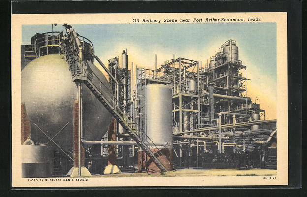 AK Port Arthur-Beaumont, TX, Oil Refinery Scene