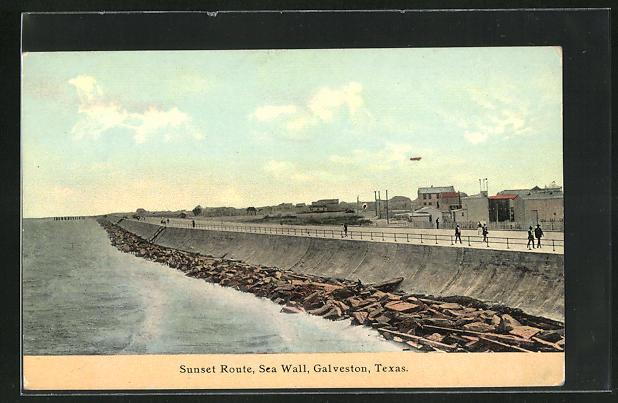 AK Galveston, TX, Sunset Route, Sea Wall
