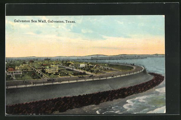AK Galveston, TX, View of the Sea Wall