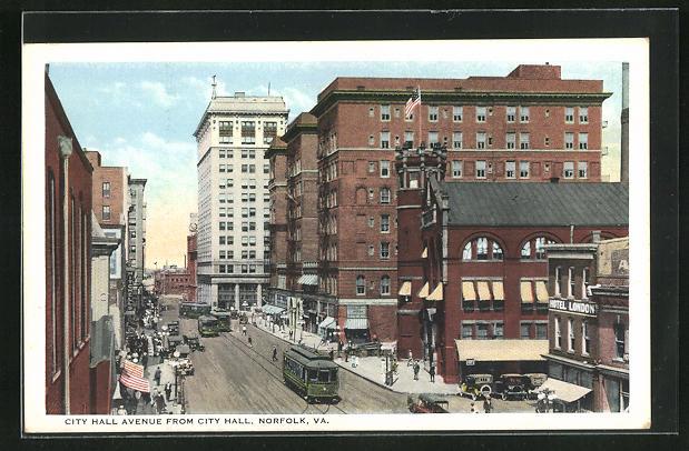 AK Norfolk, VA, City Hall Avenue from City Hall