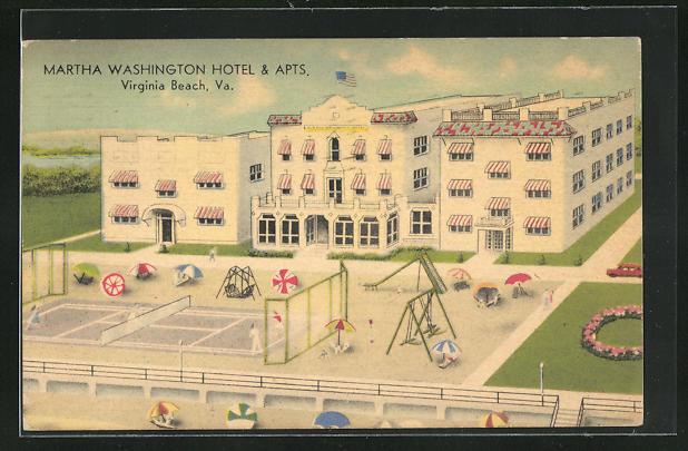 AK Virginia Beach, VA, Martha Washington Hotel & Apts.