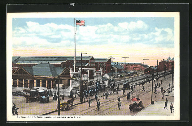 AK Newport News, VA, Entrance to Ship Yard