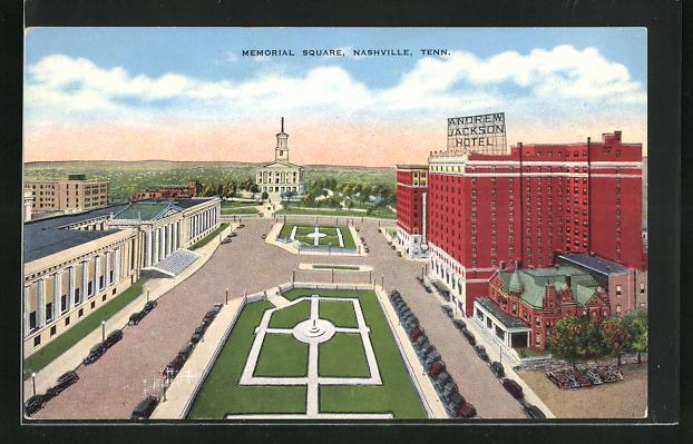 AK Nashville, TN, Andrew Jackson Hotel, Memorial Square