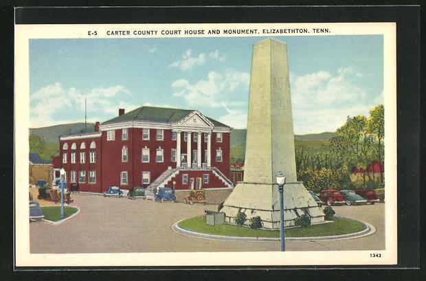AK Elizabethton, TN, Carter County Court House and Monument