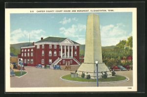 AK Elizabethton, TN, Carter County Court House and Monument