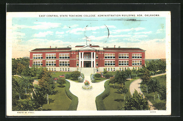 AK Oklahoma, OK, East Central State Teachers College, Administration Building