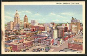 AK Tulsa, OK, Teilansicht des Zentrums