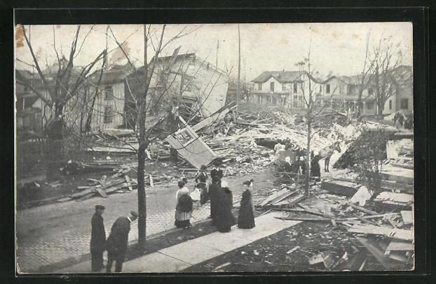 AK Cambridge Springs, PA, Tornadoschäden, zerstörte Wohnhäuser