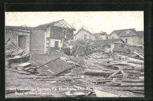 AK Cambridge Springs, PA, Hurricane Schäden, Oct. 21, 1909, Rear of Mc Lellan St.