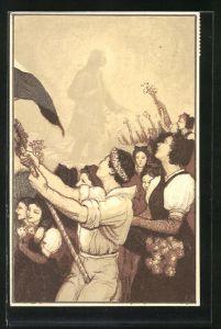 Künstler-AK Journée de la Jeunesse 14 Avril 1920, Tag der Jugend 1920