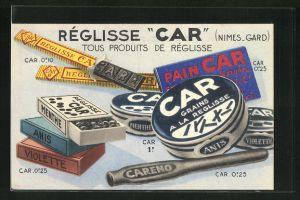 AK Reklame für Lakritze / Réglisse Car