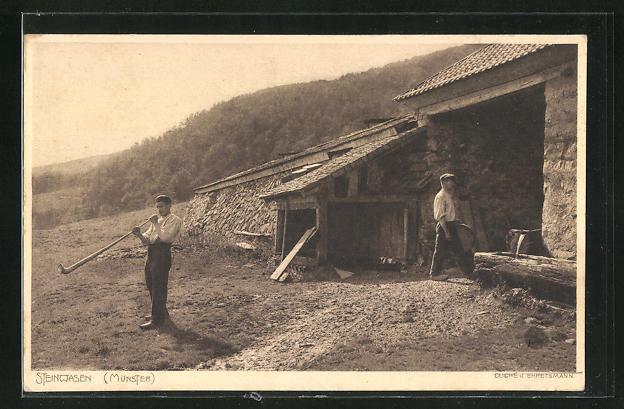 AK Steinwasen, Alphornbläser vor seinem Haus