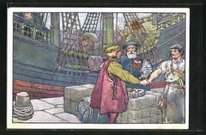 AK Hansa-Bund für Gewerbe, Handel und Industrie, Schiff im Hafen