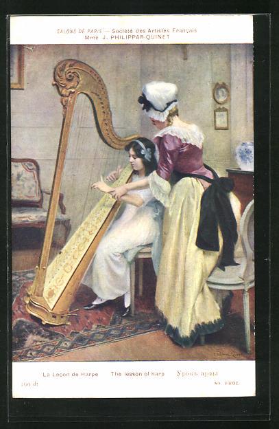AK La Lecon de Harpe
