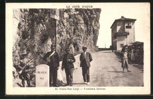 AK Ponte San-Luigi, Frontiera Italiana, Grenze zwischen Italien und Frankreich