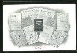 AK Die geistige Nahrung des D. H. V., Zeitung Die Deutsche Handels-Wacht, Jahrbuch 1906