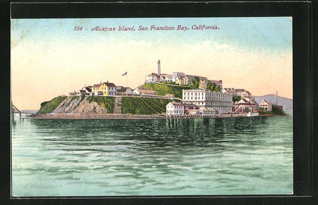 AK San Francisco, CA, Blick auf das Alcatraz Gefängnis