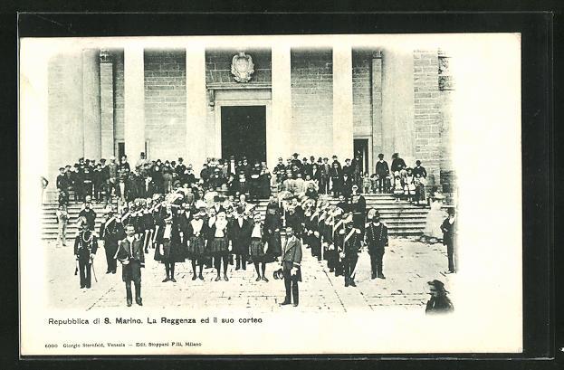 AK Repubblica di San Marino, La Reggenza ed il suo corteo