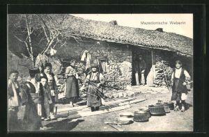 AK Mazedonische Weberinnen bei der Arbeit