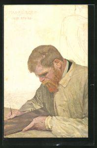Künstler-AK Max Klinger: Maler Curt Stoeving im Portrait