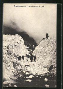 AK Grimselstrasse, Schneebruch im Juni