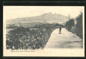 AK Carn Brea, Village from Church Lane