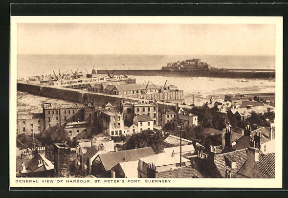 AK St. Peter`s Port / Guernsey, General View of Harbour
