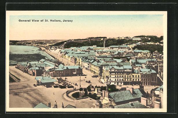 AK St. Helier / Jersey, General View, Teilansicht der Stadt