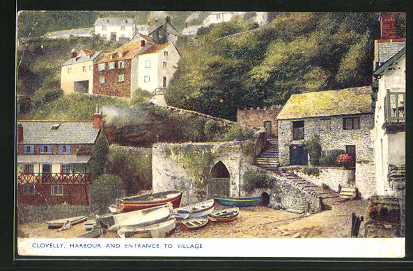AK Clovelly, Harbour and Entrance to Village