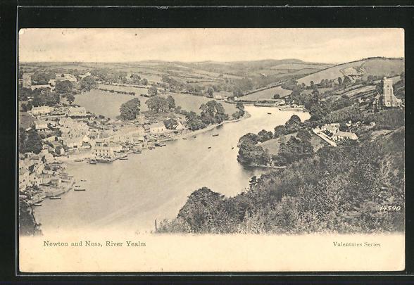 AK Newton and Noss, River Yealm, Ortsansicht mit Fluss