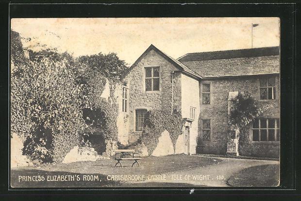 AK Carisbrooke / Isle of Wight, Carisbrooke Castle, Princess Elizabeth`s Room