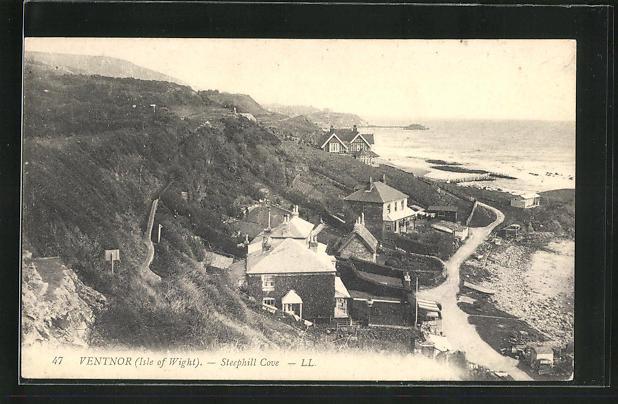 AK Ventnor / Isle of Wight, Steephill Cove, Ortspartie am Strand