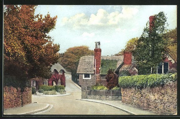 AK Shanklin / Isle of Wight, Street in the Old Village