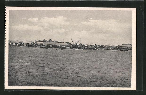 AK Beira, Ortsansicht vom Hafen aus gesehen