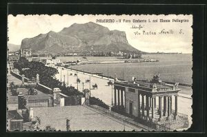 AK Palermo, Il Foro Umberto I. col Monte Pellegrino