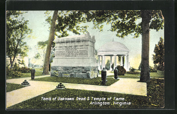 AK Arlington, VA, Tomb of Unknown Dead & Temple of Fame