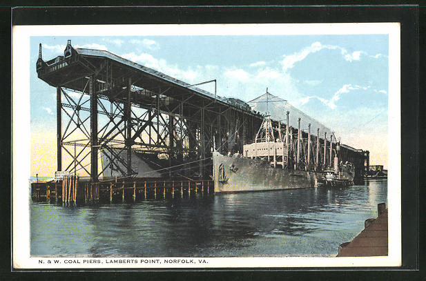 AK Norfolk, VA, N. & W. Coal Piers, Lamberts Point
