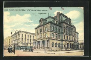 AK Toledo, OH, Madison Ave., showing Old Post Office and federal Building