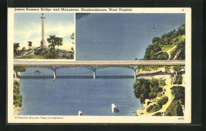 AK Sheperdstown, WV, James Rumsey Bridge and Monument