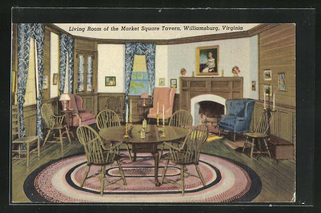 AK Williamsburg, VA, Living Room of the Market Square Tavern