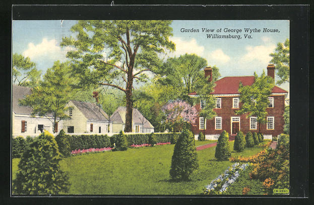AK Williamsburg, VA, Garden View of George Wythe House