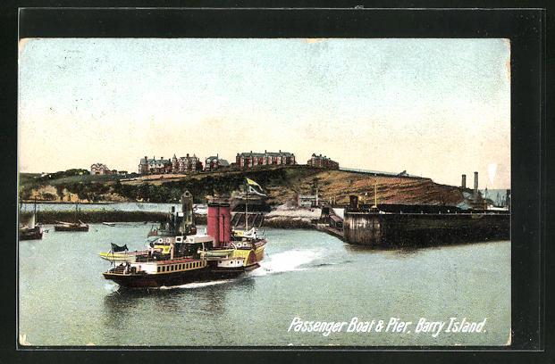 AK Barry Island, Passenger Boat & Pier