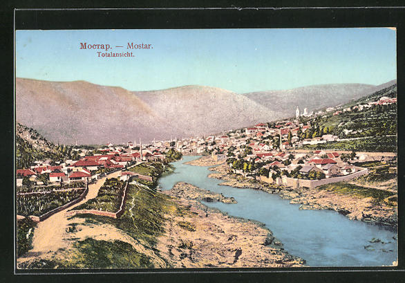 AK Mostar, Totalansicht mit Fluss