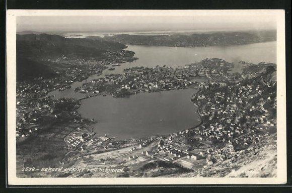 AK Bergen, utsikt fra Ulrikken