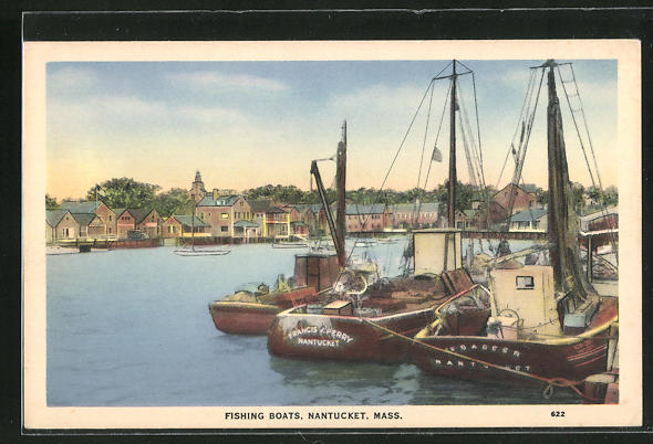 AK Nantucket, MA, fishing boats