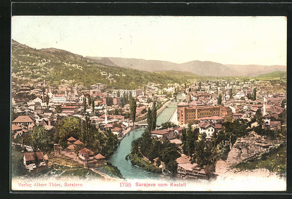 AK Sarajewo, Ortsansicht vom Kastell