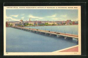 AK Boston, MA, Harvard Bridge, Showing Massachusetts Institute of Technology in Background