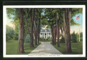 AK Rockland, MA, Approach to Spence Estate
