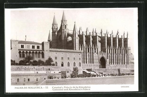 AK Palma de Mallorca, Catedral y Palacio de la Almudaina